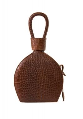 Atena Croc Brown Leather Bag