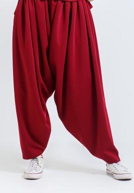 Maroon Sherwal Pants