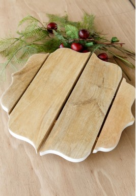 Romantic Wood Tray Large
