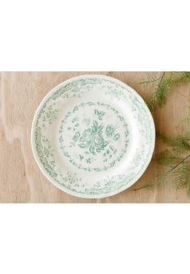 Flower Dinner Plate Sage 12 Pieces