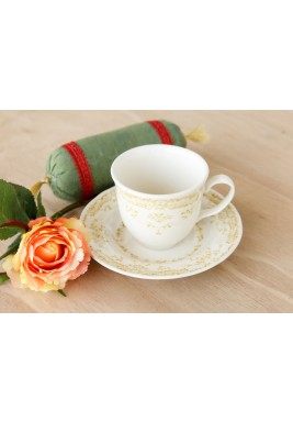 Sage Tea Cup With Saucer set of 12
