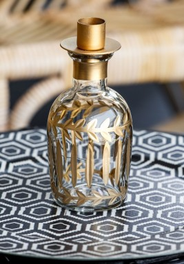 Narrow Bottom Bottle Candle Holder