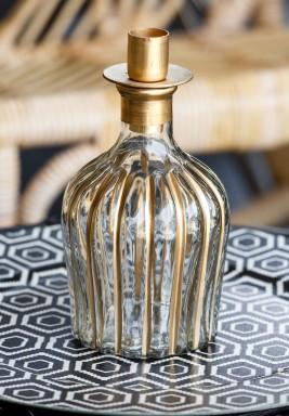 Bottle Candle Holder Short Stripe