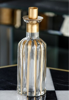 Stripe Bottle Candle Holder
