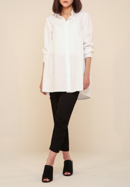 White Slit Back Shirt