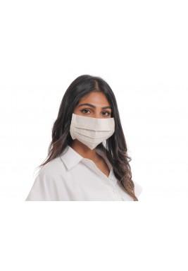 Beige Linen face mask