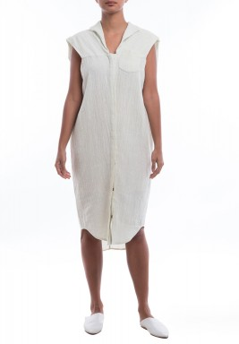 Lea Khadi White Sleeveless Dress