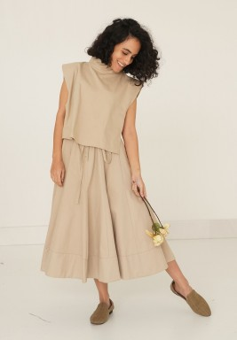 Kenton Beige Skirt Set