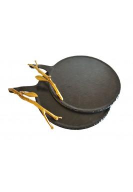 Round Rustic Metallic Tray