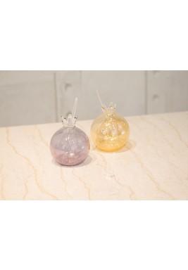 Pomegranates Glass with Straw