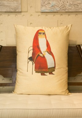 Cushion with Arabic Character Print