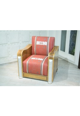 Queen Chair w/ wood and Mother of Pearl