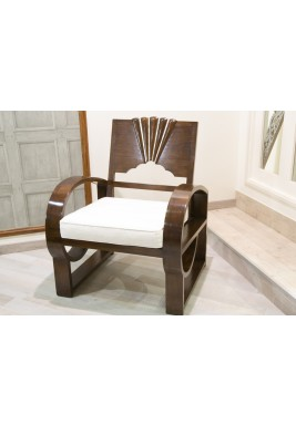 Lotus Chair with Wood and Mother Of Pearl