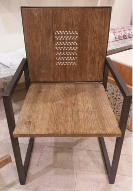 Wooden Chair engraved with Mother of Pearl