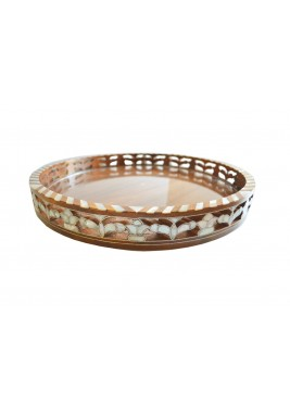 Round Tray Perforated Sadaf
