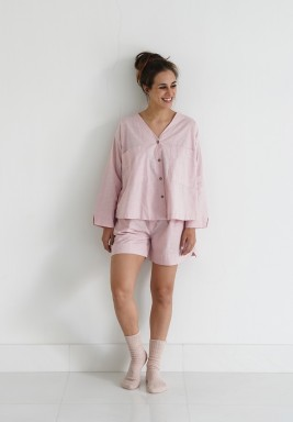 Pink Shorts Pajama Set