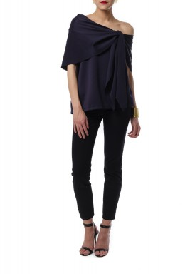 Front knot top Navy Blue