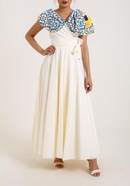 Creamy Wrap Dress