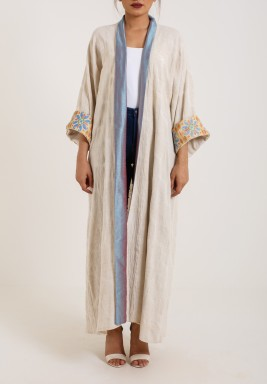 Metallic Collar Bisht
