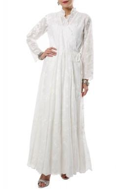 Broderie Crossed Dress