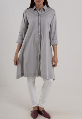 Grey long sleeves Shirt