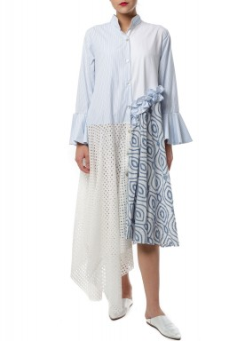 Half net Long shirt Kaftan