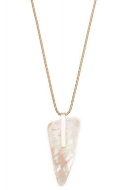 Mother of pearl triangle necklace