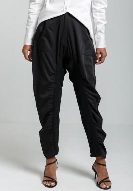 Black Blend Mid-Rise Pants