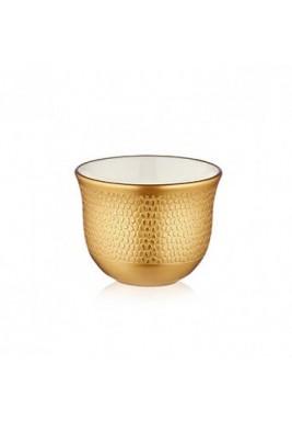 Koleksiyon Porcelain Arabic Coffee Cup, 6 Pieces Set - Print 4