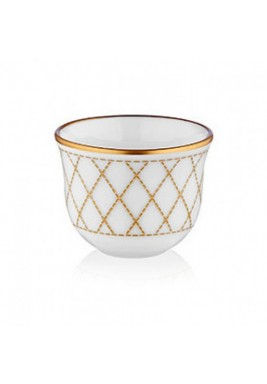 Koleksiyon Porcelain Arabic Coffee Cup, 6 Pieces Set - Print 11