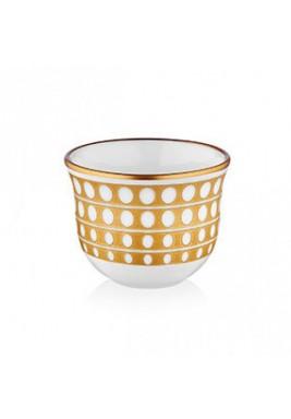 Koleksiyon Porcelain Arabic Coffee Cup, 6 Pieces Set - Print 13