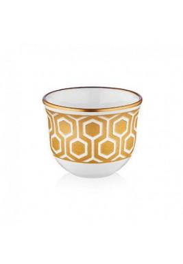 Koleksiyon Porcelain Arabic Coffee Cup, 6 Pieces Set - Print 15