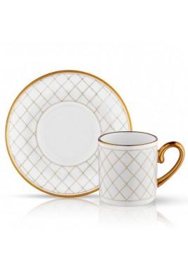 Koleksiyon Porcelain Turkish Coffee Cup With Saucer, Traditional, 6 Pieces Set - Print 11