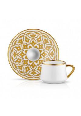 Koleksiyon Porcelain Turkish Coffee Cup with Saucer, Modern, 6 Pieces Set - Print 2
