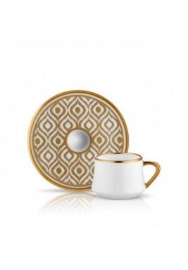 Koleksiyon Porcelain Turkish Coffee Cup with saucer,Modern,6 Pieces Set-Print 8