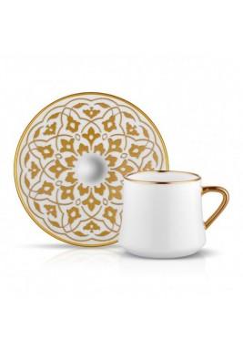 Koleksiyon Porcelain Cappuccino Cup with Saucer,6 pieces Set,Print12