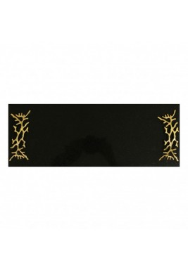 Black Marbel Serving Tray with Gold handles, Size 50 cm X 20 cm