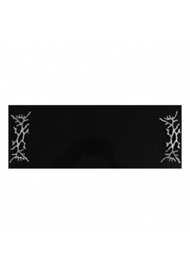 Black Marbel Serving Tray with Silver handles, Size 50 cm X 20 cm