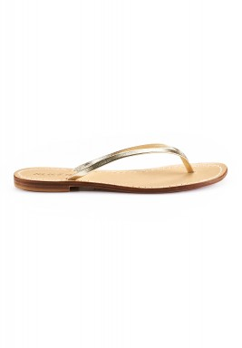 Gold simple flip flop sandals