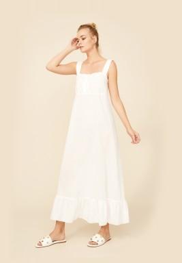 Off White Cotton Nightie