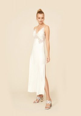 Off White With Silver Nightie