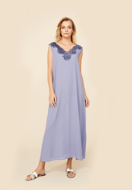 Freya - Silk Crepe Buttoned Nightie