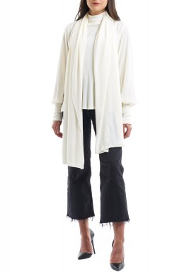 2 Way Scarf Sweater Offwhite
