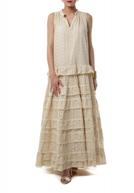 Light ruffles dress