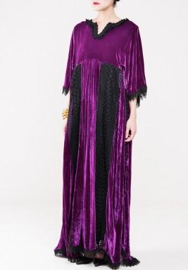 Fallen purple velvet kaftan