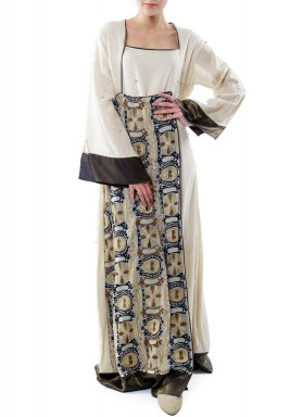 Patterned block kaftan