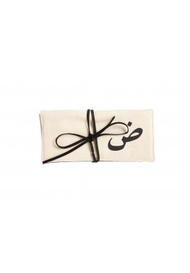 Beige Dhad Jewelry Pouch