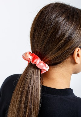 Rainbow Red Velvet Scrunchie