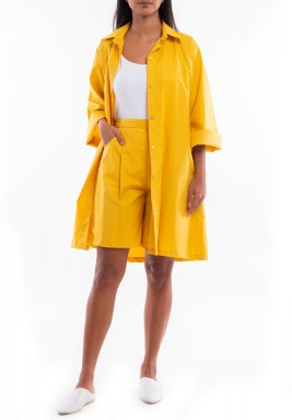 Yellow Jacket & Shorts Set