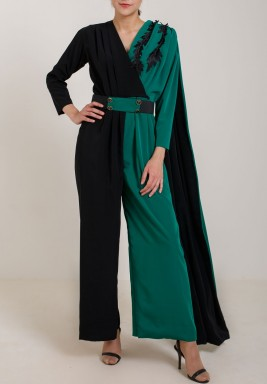Green Cape Jumpsuit